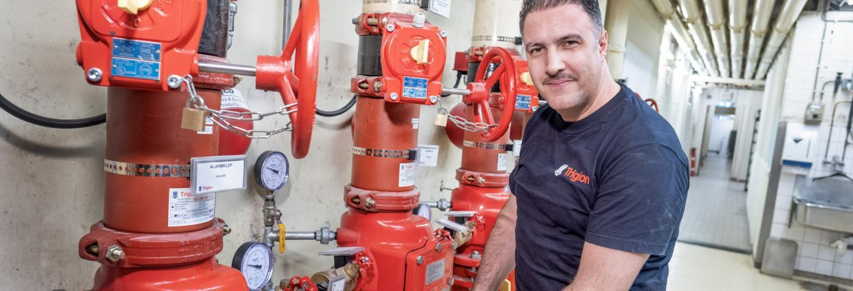 Trigion brandveiligheid man voor installatie