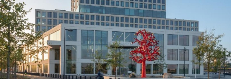 Het imposante gebouw van de rechtbank Breda