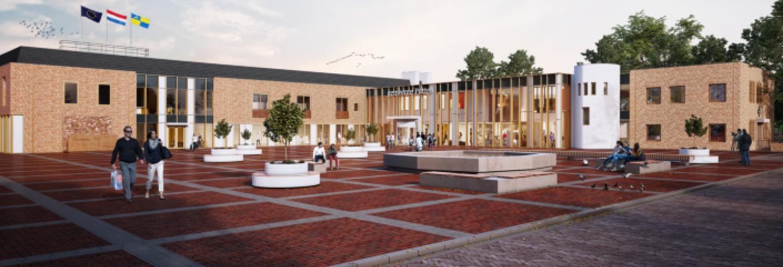 Afbeelding van het nieuwe gemeentehuis Putten