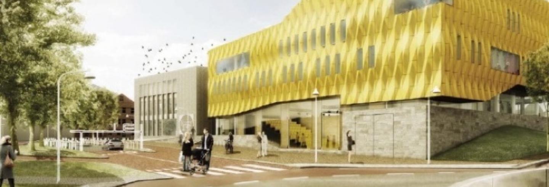 Afbeelding van het nieuwe gebouw van Westluidense poort in Tiel
